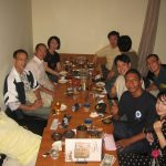 Jantar com Shishida Shihan e amigos